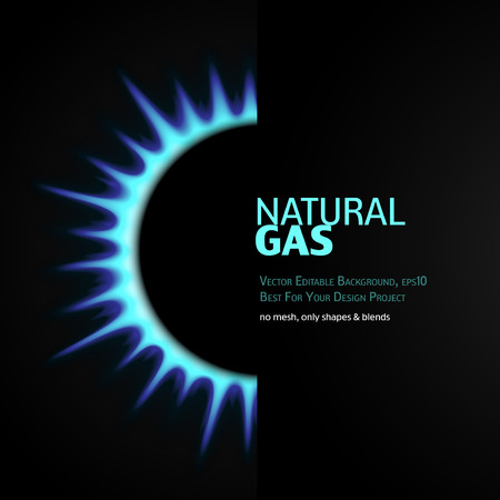 natural gas: Vector Editable Background with gas burner. Eps10