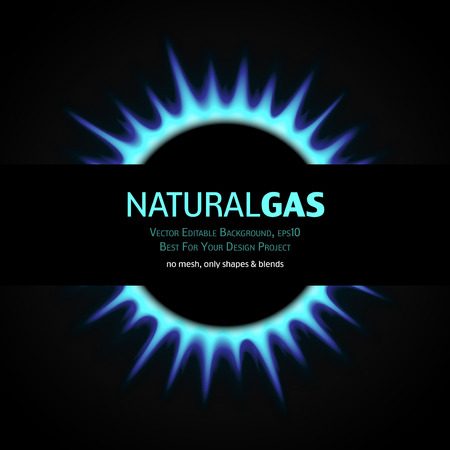 natural phenomena: Vector Editable Background with gas burner. Eps10