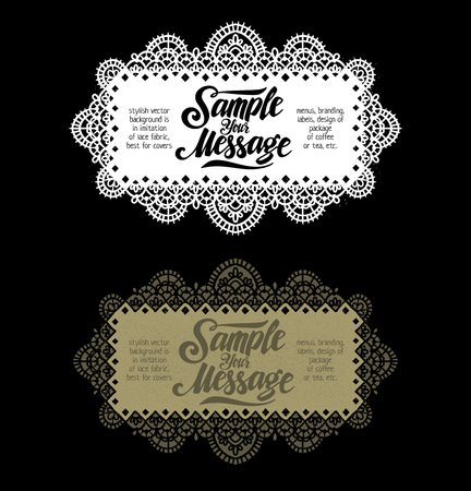 guipure: stylish vector background is in imitation of lace fabric, best for covers, menus, branding, labels, design of package of coffee or tea, etc.