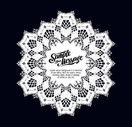 lace pattern: stylish vector background is in imitation of lace fabric, best for covers, menus, branding, labels, design of package of coffee or tea, etc.