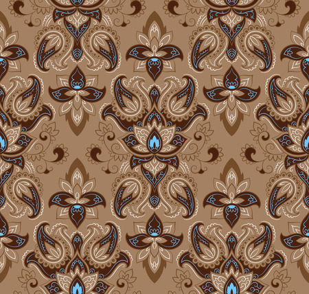 baroque wallpaper: Wallpaper in the style of Baroque. A seamless vector background whith paisley design elements. Indian floral ornament Illustration