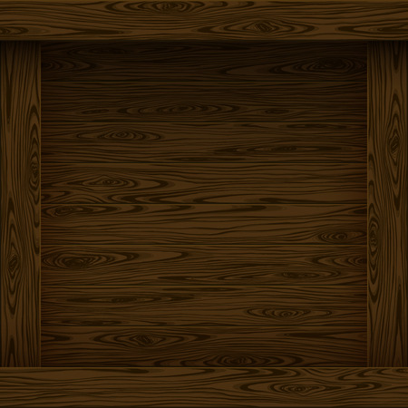piece of furniture: Wood texture, vector Eps10 illustration. Natural Dark Wooden Background.