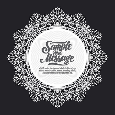 banding: stylish vector background is in imitation of lace fabric, best for covers, menus, branding, labels, design of package of coffee or tea, etc.