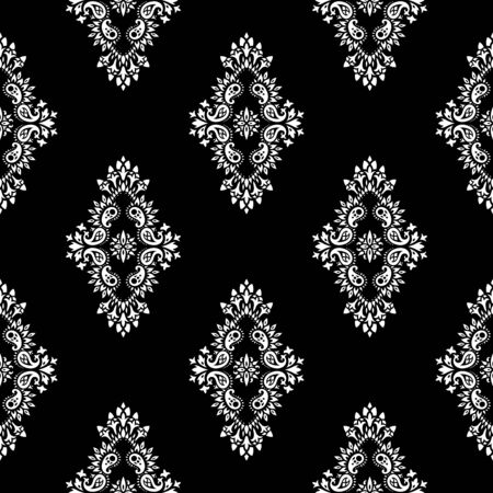 western pattern: Wallpaper in the style of Baroque. A seamless vector background with paisley design elements. Indian floral ornament