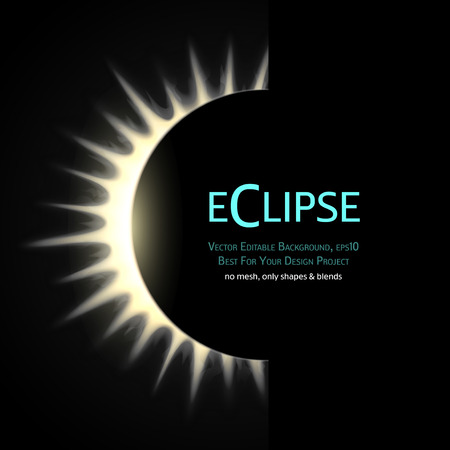 eclipse: Vector Editable Background. Total eclipse of the sun.