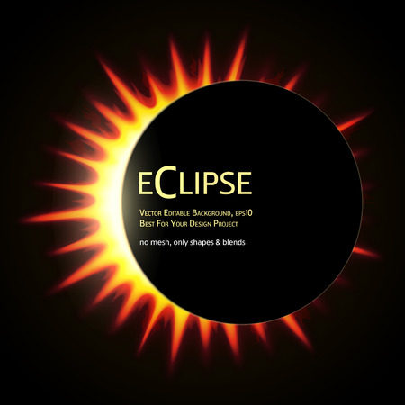 total: Vector Editable Background. Total eclipse of the sun.