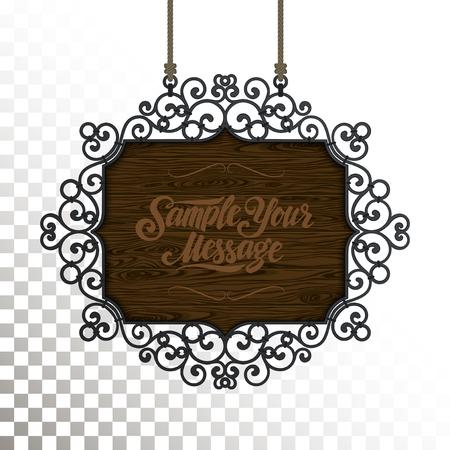insignia: letrero de la vendimia de publicidad al aire libre de los gráficos de la vendimia. Elemento de diseño vectorial.