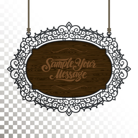 ornaments vector: Vintage signboard outdoor advertising vintage graphics. Vector design element.
