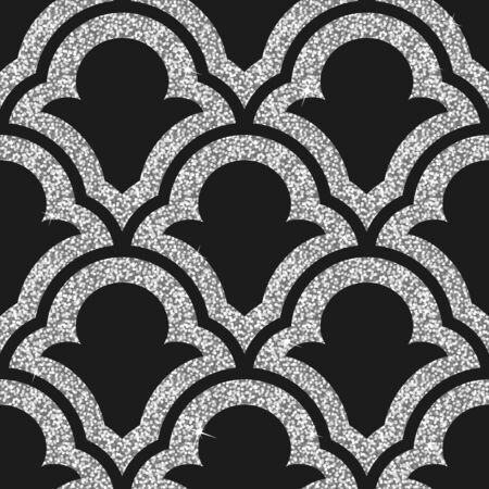 spangle: Seamless background from a silver ornament, Fashionable modern wallpaper or textile