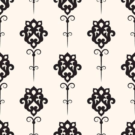 old  fashioned: Vector damask seamless pattern background. Classical luxury old fashioned ornament, texture for wallpapers, textile, wrapping.