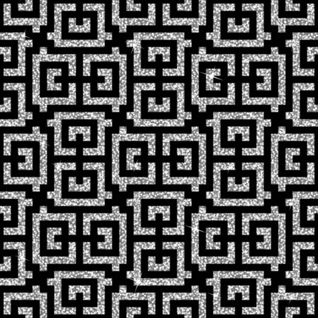 swastika: Seamless background from an oriental silver swastika ornament. Fashionable modern wallpaper or textile