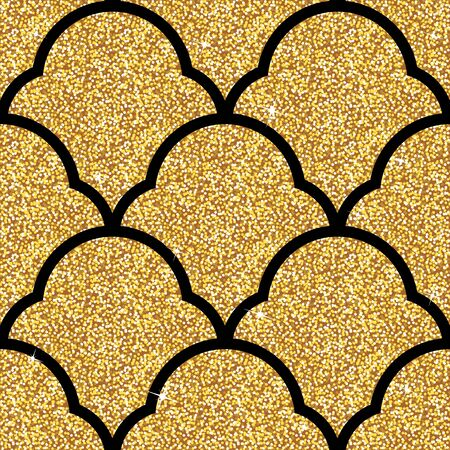 modern wallpaper: Seamless background from a golden ornament, Fashionable modern wallpaper or textile