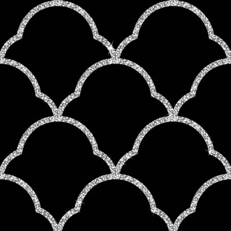 spangles: Seamless background from a silver ornament, Fashionable modern wallpaper or textile