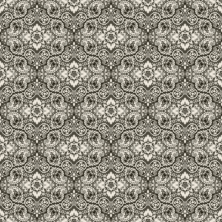 shawl: Wallpaper in the style of Baroque. A seamless vector background with paisley design elements. Indian floral ornament
