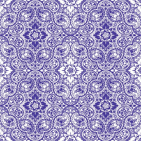 wallpaper floral: Wallpaper in the style of Baroque. A seamless vector background with paisley design elements. Indian floral ornament