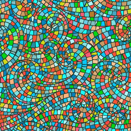 glass background: Bright mosaic vector seamless pattern. Modern illustration.