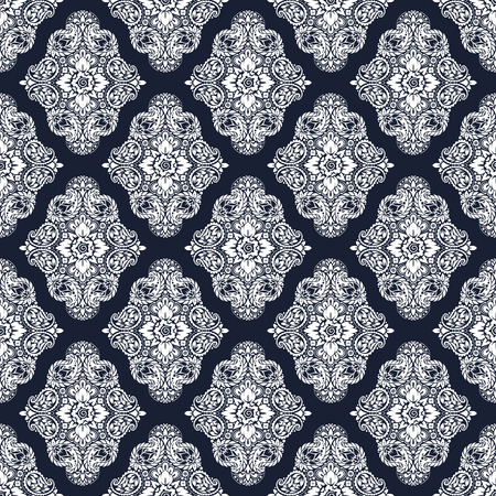 bandana western: Wallpaper in the style of Baroque. A seamless background with paisley design elements. Indian floral ornament Illustration
