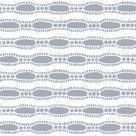 psychoanalysis: Lace vector fabric seamless pattern with lines and waves