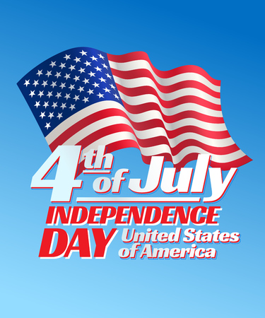 holiday symbol: Independence day 4 th july card. Patriotic symbol holiday poster Illustration