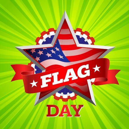 united states flag: flag day background, united states. vector illustration Illustration