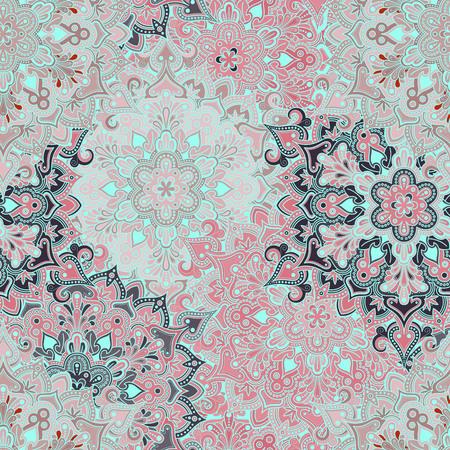 Boho-stijl bloemen naadloze patroon. Tegels mandala ontwerp, het beste voor print weefsel of papper en nog veel meer.