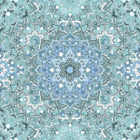 보헤미안 스타일의 꽃 원활한 패턴입니다. 최상의 인쇄 직물 또는 PAPPER 등을위한 타일 만다라 디자인.