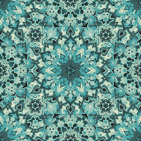 malaysia: Boho style flower seamless pattern. Tiled mandala design, best for print fabric or papper and more. Illustration