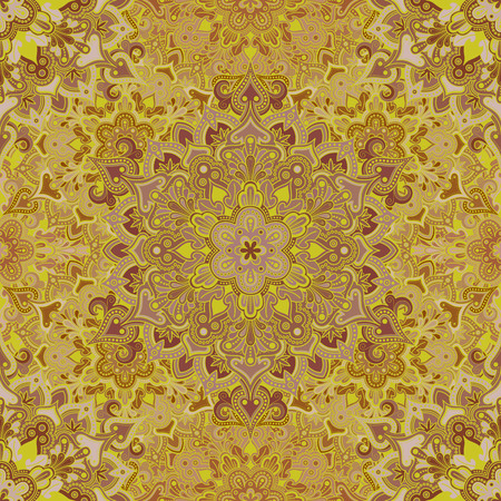 elaborate: Boho style flower seamless pattern. Tiled mandala design, best for print fabric or papper and more. Illustration