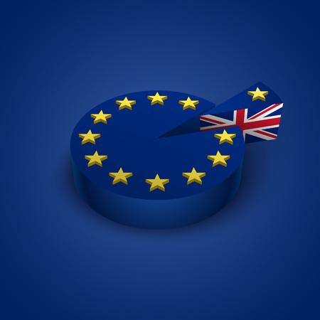 remain: Brexit referendum Great Britain leave European union concept illustration
