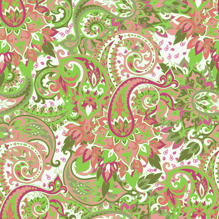 tile background: Seamless pattern based on traditional Asian elements Paisley. Boho vintage style vector background. Best motive for print on fabric or papper.