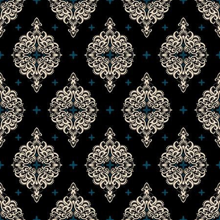 Nahtlose Muster basiert auf traditionellen asiatischen Elementen Paisley. Boho Vintage-Stil Vektor Hintergrund. Beste Motiv für den Druck auf Stoff oder papper.