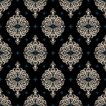 fabric pattern: Seamless pattern based on traditional Asian elements Paisley. Boho vintage style vector background. Best motive for print on fabric or papper.