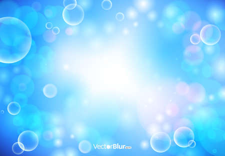 blur: Abstract background with blur lights - vector illustration