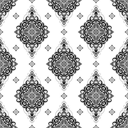 twisted: Seamless pattern based on traditional Asian elements Paisley. Boho vintage style vector background. Best motive for print on fabric or papper.