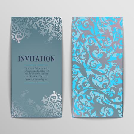 cartoline vittoriane: set di cartoline d'auguri d'epoca, invito con ornamenti vittoriano, bello, cartoline di lusso