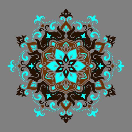 mystical: Mandala Round Ornament Pattern. Boho vintage style vector background. Hand drawn design. Ethnic motifs.