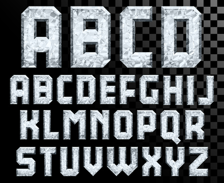 diamond letters: Alphabet of Crystal letters