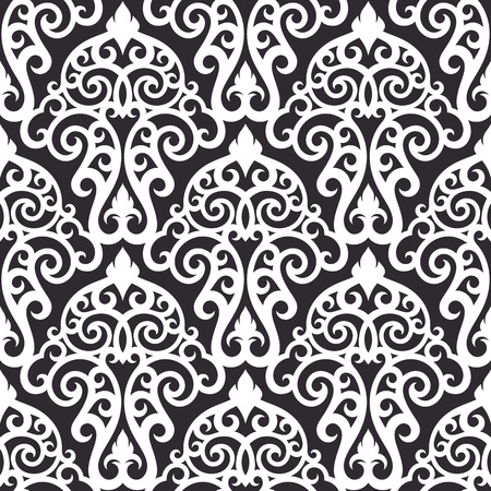 retro patterns: Vector damask seamless pattern