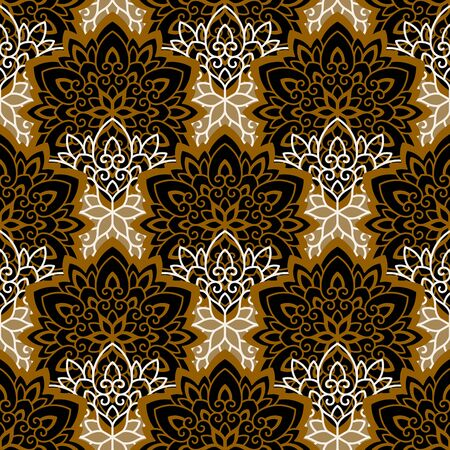 flower patterns: Mandala. Ethnic motifs vector seamless pattern