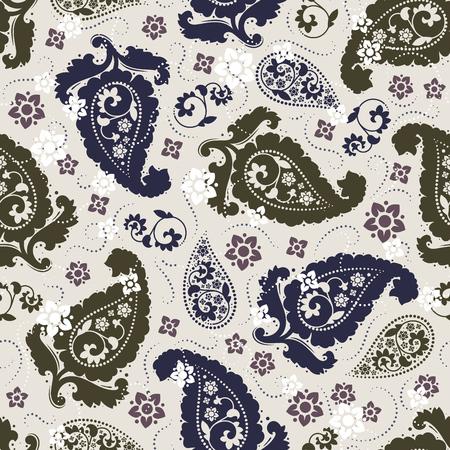 Nahtloses Paisley-Muster Standard-Bild - 80261208