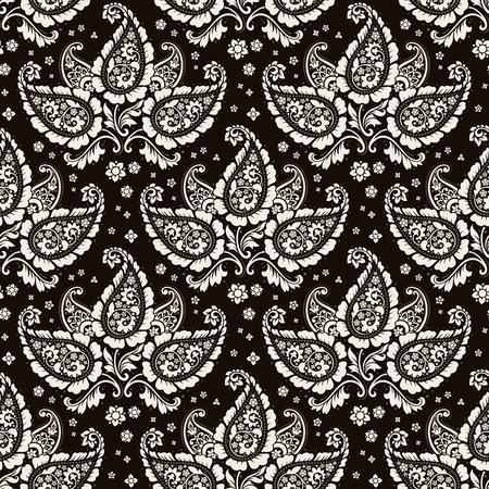 Seamless paisley pattern Çizim
