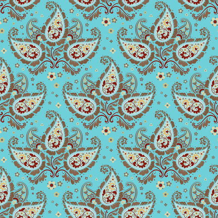Seamless paisley pattern vector background