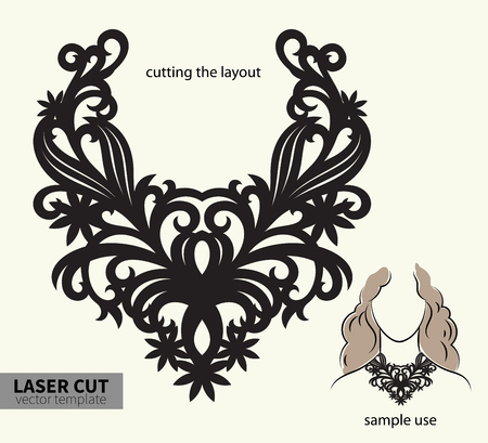 cut paper: Vector laser cutting necklace.
