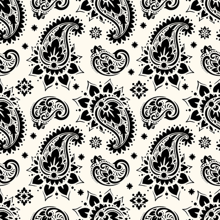 Nahtloses Paisley-Muster Standard-Bild - 82627687