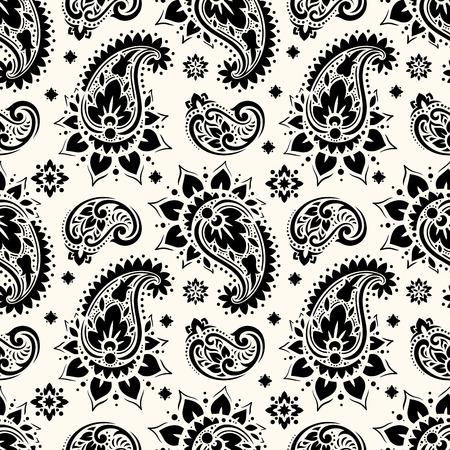 Seamless paisley pattern Illusztráció