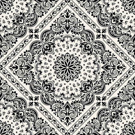 Paisley Bandana print illustration.