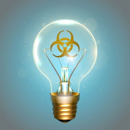 Realistic lamp with the symbol vector