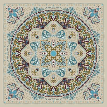 Paisley Bandana print vector illustration. Vettoriali