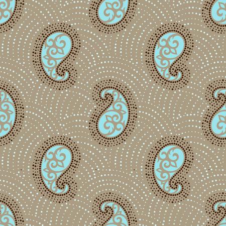 Seamless paisley pattern Vettoriali