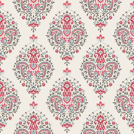 Seamless paisley pattern vector illustration Ilustração